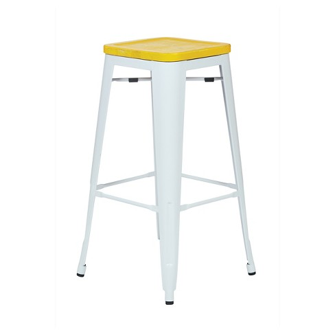 "Osp Designs Bristow Vintage Wood Seat 30"" Barstool Antique Metal (Set of 2) - Office Star - image 1 of 3"