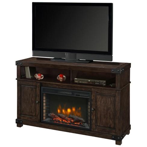 Hudson 53 Media Fireplace Rustic Brown, Muskoka Sloan Fireplace Reviews