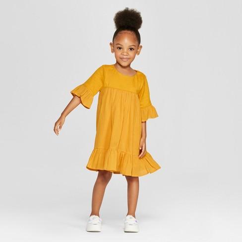 06433143756 Toddler Girls  A-Line Dress - Cat   Jack™ Orange   Target
