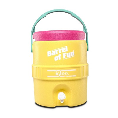 Igloo Barrel of Fun Retro Portable 2 Gallon Beverage Servers - Sunshine Yellow