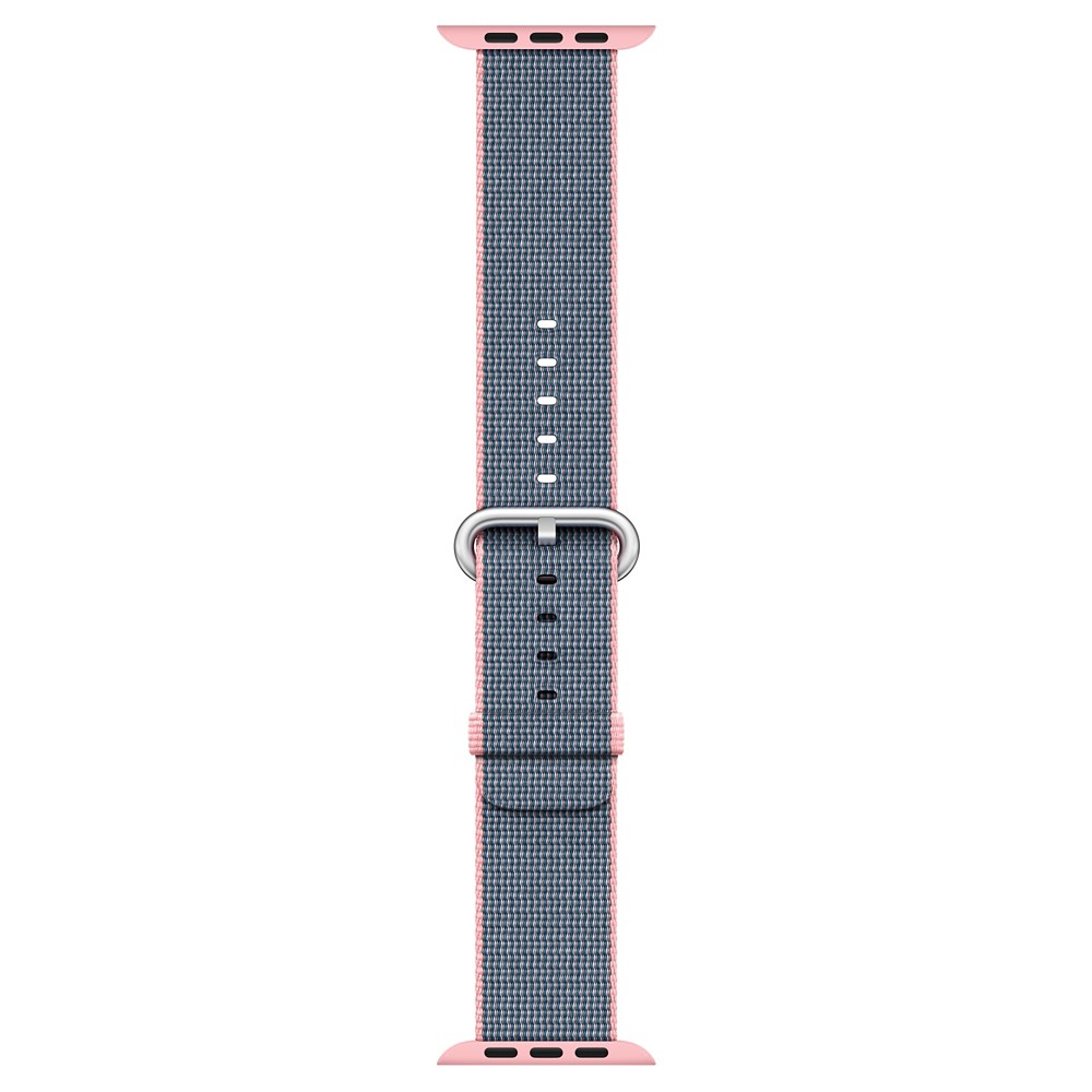 Apple Watch Woven Nylon Band 38mm - Light Pink/Midnight Blue, Adult Unisex