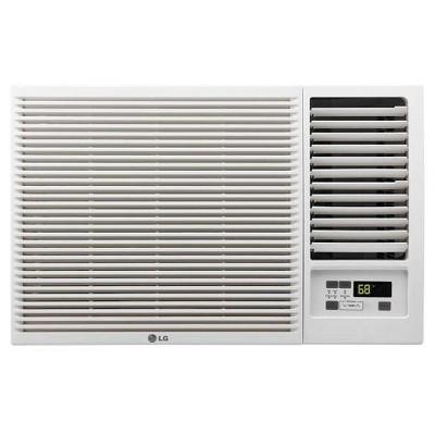 LG 7500-BTU 115V Window-Mounted Air Conditioner LW8016HR with 3-850 BTU Supplemental Heat Function - White