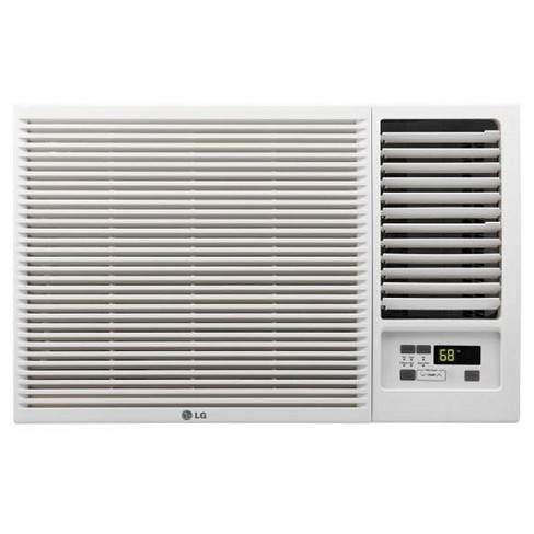 LG - 7500-BTU 115V Window-Mounted Air Conditioner with 3-850 BTU Supplemental Heat Function - White - image 1 of 4