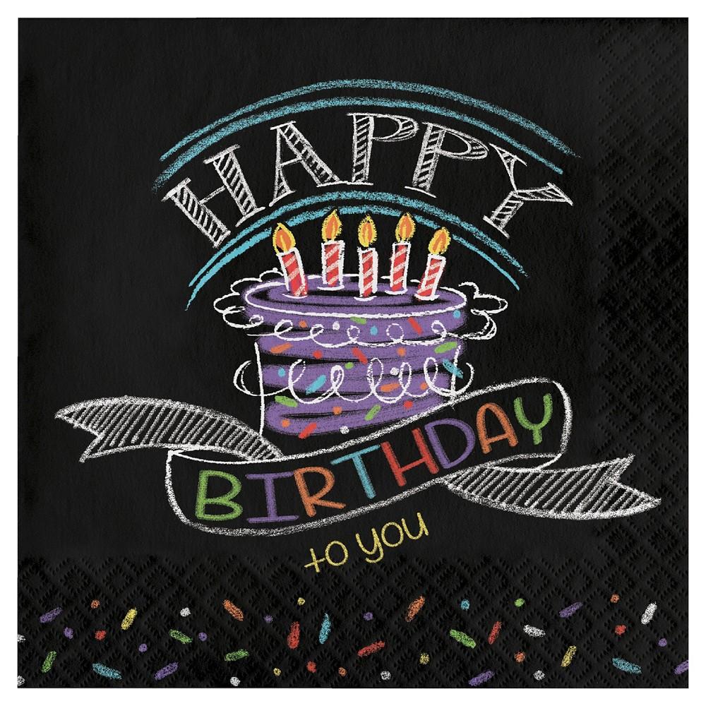 Image of 16ct Chalk Birthday Napkins