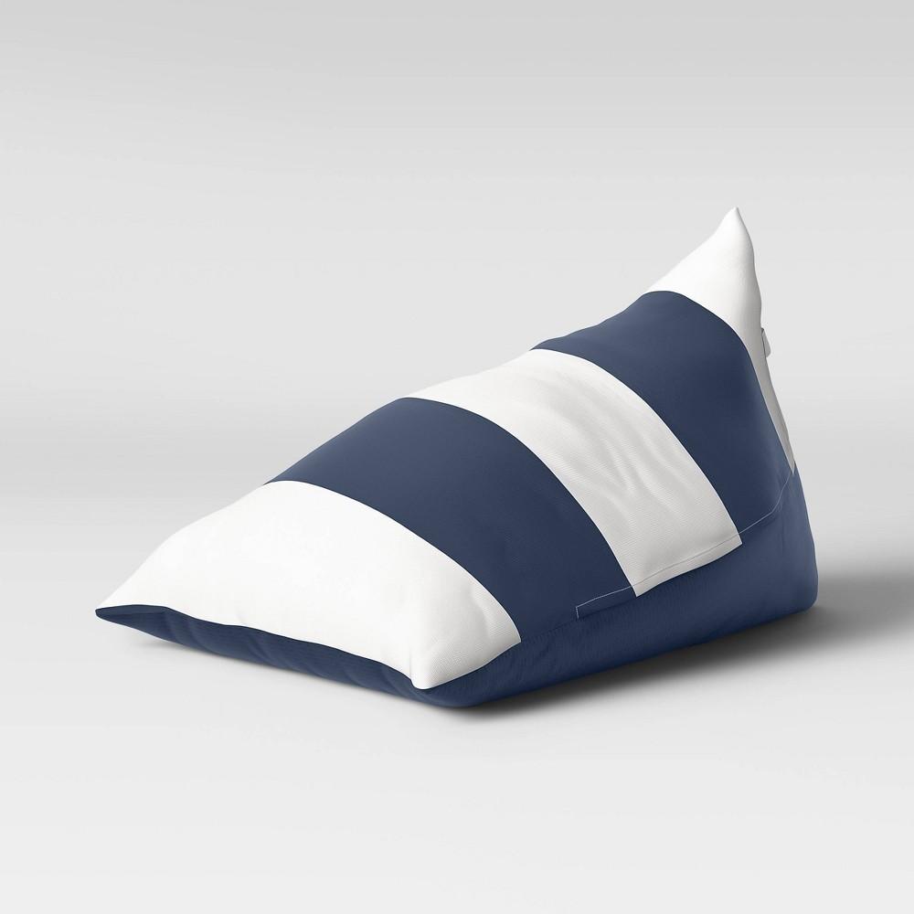 Triangle Lounge Chair Stripe White Navy Pillowfort 8482