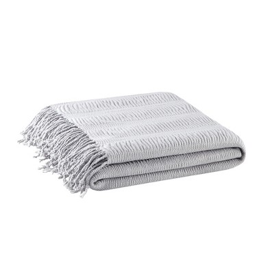 60 x50  Reeve Ruched Throw Blanket Gray