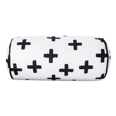 Plus Sign Throw Pillow (16 x8 )Black & White - Pillowfort™