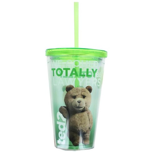 """Just Funky Ted 2 """"Lawyers"""" 18oz Carnival Cup w/ Lid and Straw - image 1 of 1"""