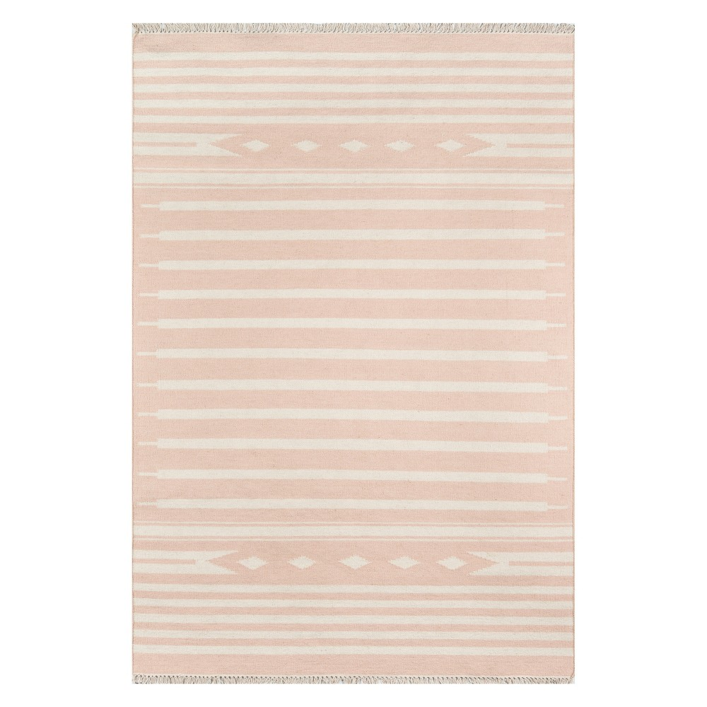 2'X3' Geometric Woven Accent Rug Pink - Erin Gates By Momeni