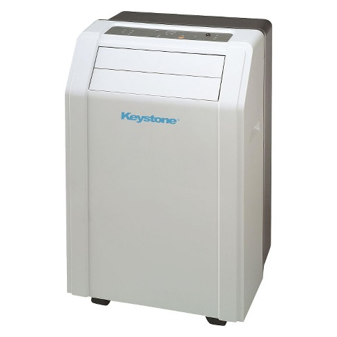"Keystone - 14000-BTU 115-Volt Portable Air Conditioner with ""Follow Me"" LCD Remote Control - White - image 1 of 4"