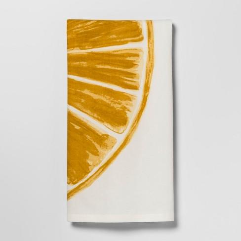 Lemon Slice Kitchen Towel White/Yellow - Threshold™