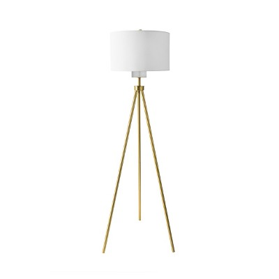 "nuLOOM Wales 66"" Metal Floor Lamp Lighting - Gold 66"" H x 20"" W x 20"" D"