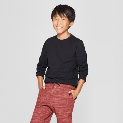 Boys' Long Sleeve T-Shirt - Cat & Jack™ Black XS