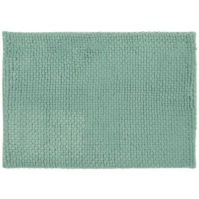 "17""x24"" Low Chenille Memory Foam Bath Rug Green - Threshold™"