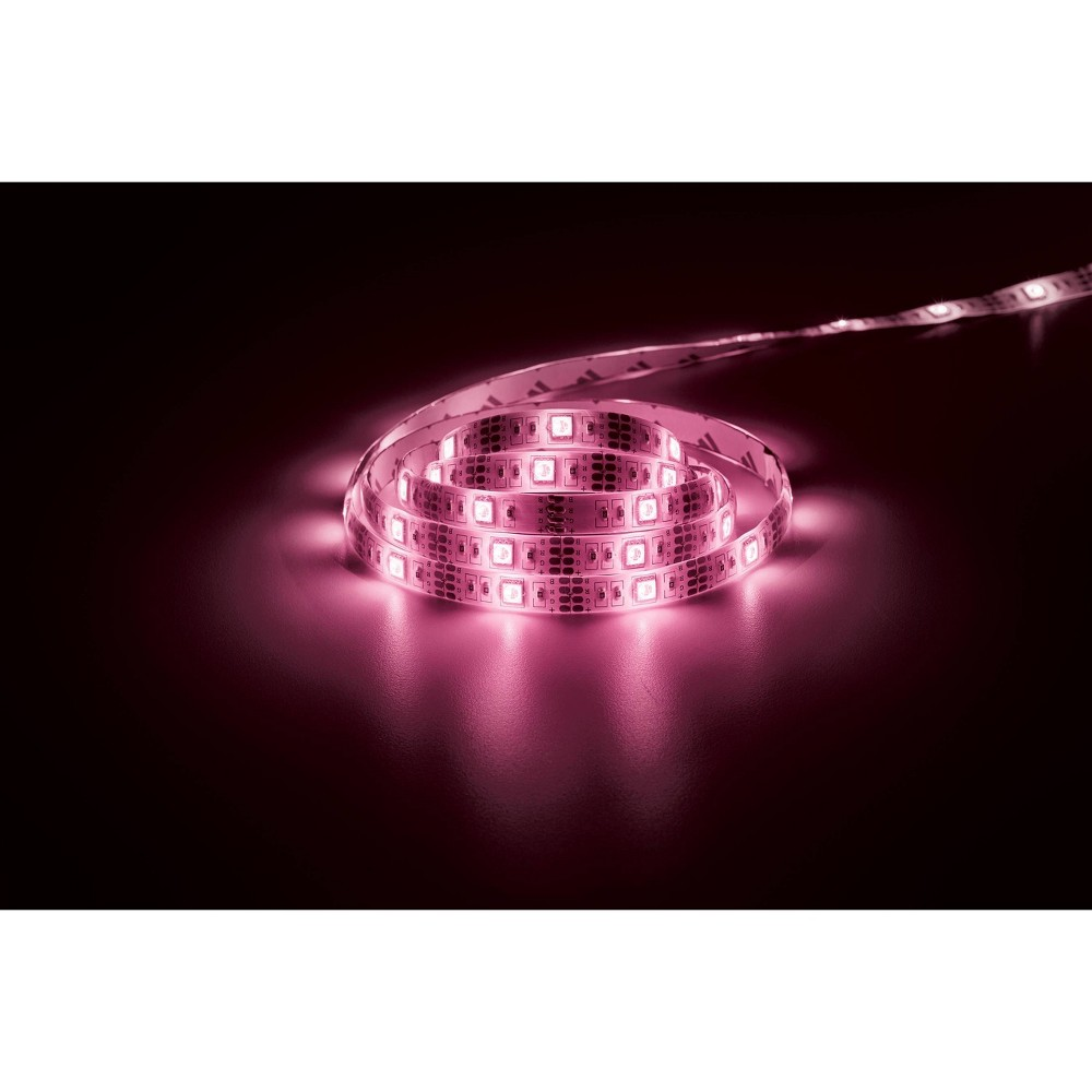 "Image of ""72"""" MotionGlo Activated LED Strip Light Pink - Merkury Innovations"""