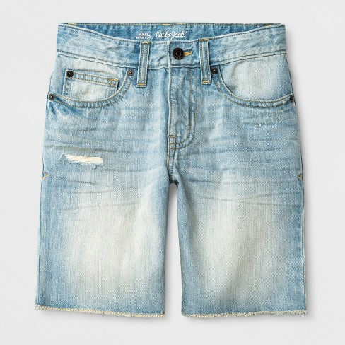Boys' Jean Shorts - Cat & Jack™ Gray - image 1 of 3