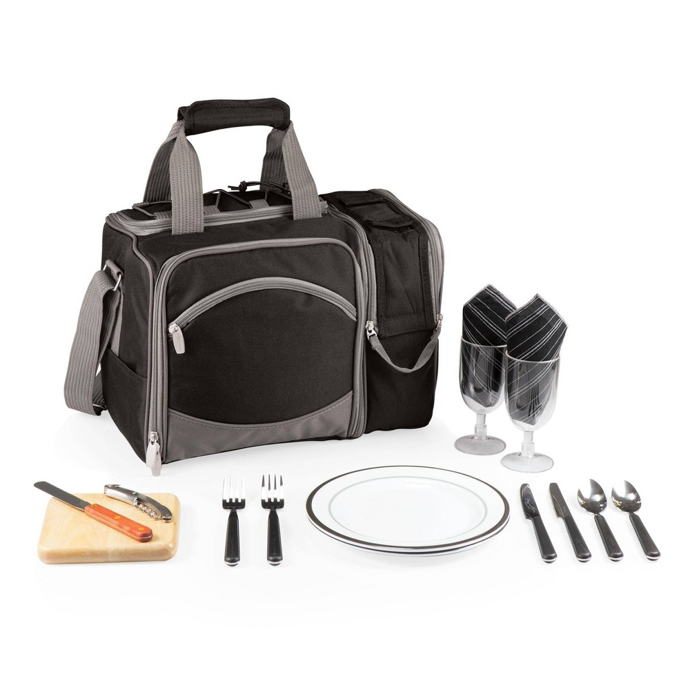 Image of Picnic Time 16pc Malibu Picnic Bag - Black