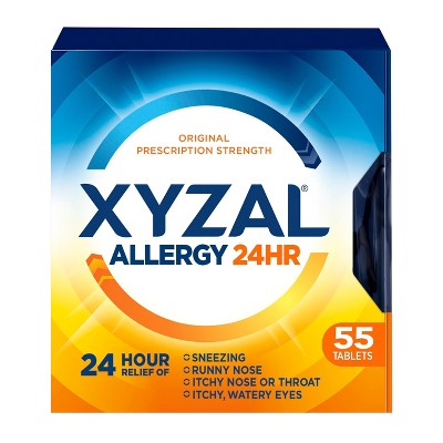 Xyzal¨ Allergy Relief Tablets - Levocetirizine Dihydrochloride - 55ct