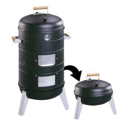 Americana 2-in-1 Charcoal Combo Water Smoker - Converts into Lock 'N Go Grill Model 5031U4.181 - Meco