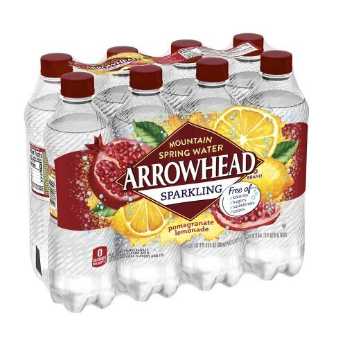 Arrowhead Pomegranate Lemonade Sparkling Water - 8pk/16.9 fl oz Bottles - image 1 of 7