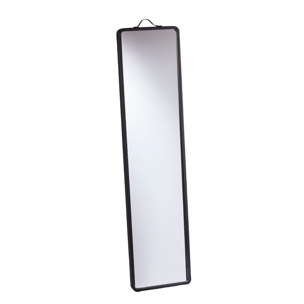 "Image of ""Holly & Martin 70""""x17"""" Lawson Floor Leaning Full Length Floor Mirror Black"""