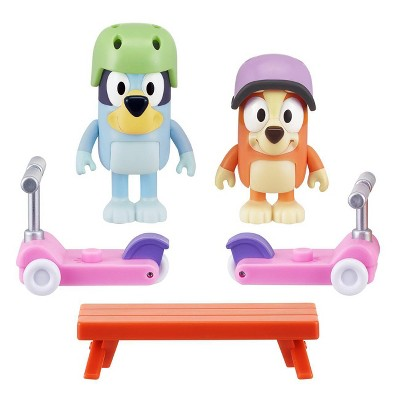 Bluey & Bingo Scooters Mini Playset