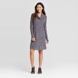 Women's Long Sleeve Cozy Cowl Neck Sweater Dress - Knox Rose™