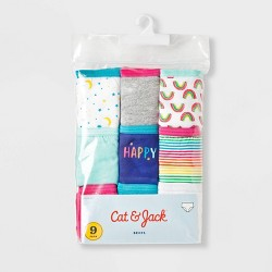 Girls' 9pk Classic Briefs - Cat & Jack™ Purple