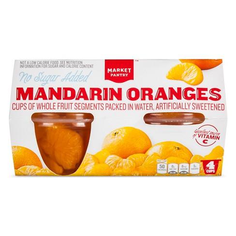 No Sugar Added Mandarin Oranges 4ct - Market Pantry™ - image 1 of 1