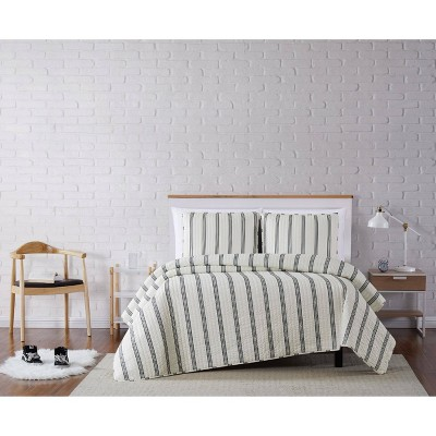 Truly Soft Everyday Millenial Stripe Quilt Set