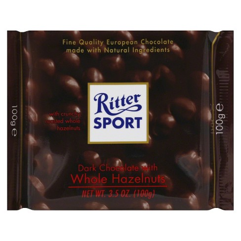 Ritter Sport Dark Chocolate with Whole Hazelnuts Chocolate Bar - 3.5oz - image 1 of 3