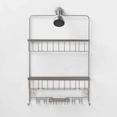 Large Bathroom Shower Caddy Nickel - Made By Design™
