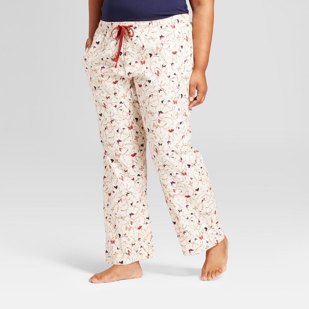 Women's Plus Size Pajama Pants Oatmeal Gray 2X