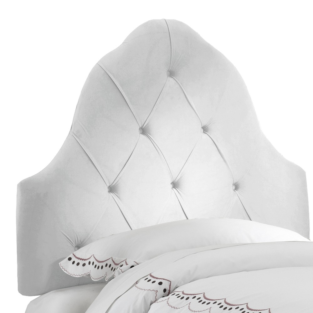Skyline Carly Tufted Headboard - Skyline Furniture, White