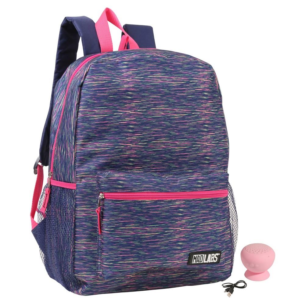 16.5 Kids' Backpack with Bluetooth Speaker - Rainbow Heather, Multi-Colored