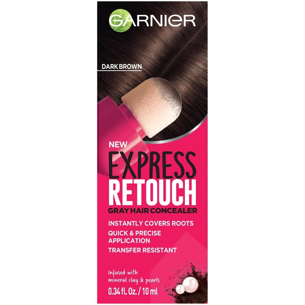 Image of Garnier Express Retouch Dark Brown Gray Hair Concealer - 0.34 fl oz