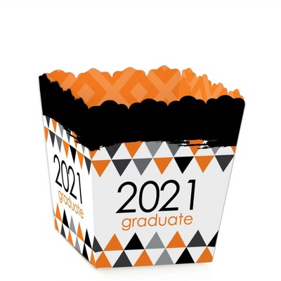 Big Dot of Happiness Orange Grad - Best is Yet to Come - Party Mini Favor Boxes - Orange 2021 Graduation Party Treat Candy Boxes - Set of 12
