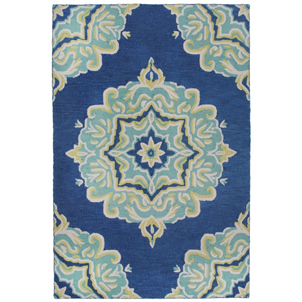 5'X8' Jacquard Tufted Area Rug Blue - Liora Manne