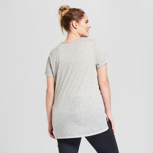 6611a201fb409 Women s Plus Size St. Patrick s Day Kiss Me I m Irish-Ish Printed Short  Sleeve V-Neck Graphic T-Shirt - Grayson Threads (Juniors ) - Gray   Target