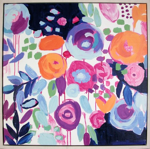 "24""x24"" Expressive Floral Framed Wall Canvas - Opalhouse™ - image 1 of 1"