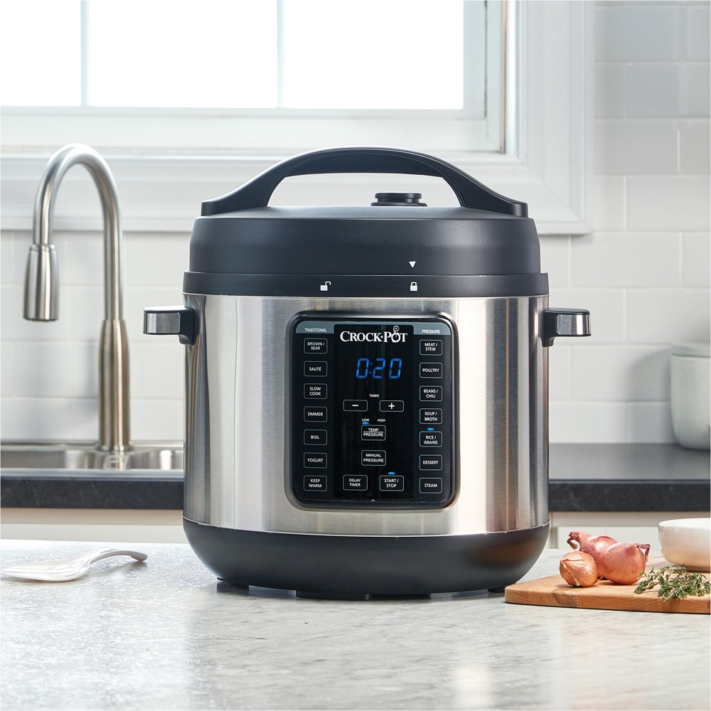 Crock-Pot 4qt Express Crock Multi-Cooker – Stainless Steel, Silver 53658770