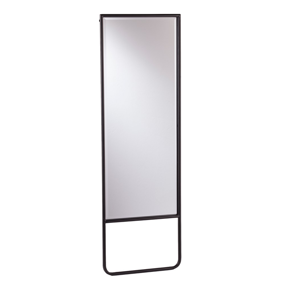"Image of ""Holly & Martin 62""""x20"""" Lewis Leaning Floor Mirror Black"""