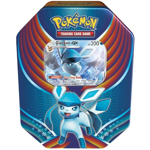 Pokemon Trading Card Game Evolution Celebration Fall Tin featuring Glaceon-GX - image 1 of 3