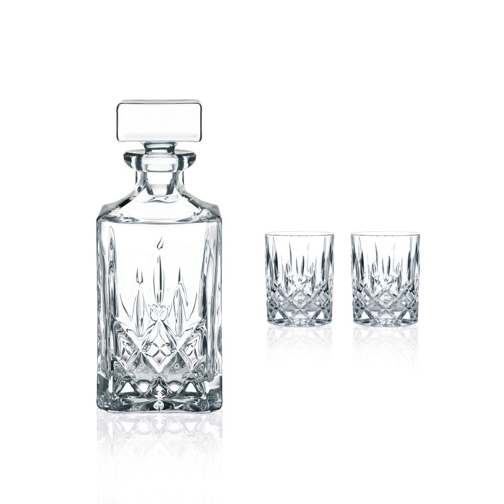 Image of Nachtmann 3pc Whiskey Decanter Set, Clear