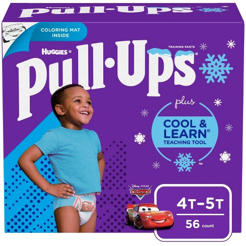 Huggies Pull-Ups Boys' Cool & Learn Training Pants - Size 4T-5T (56ct) - image 1 of 4
