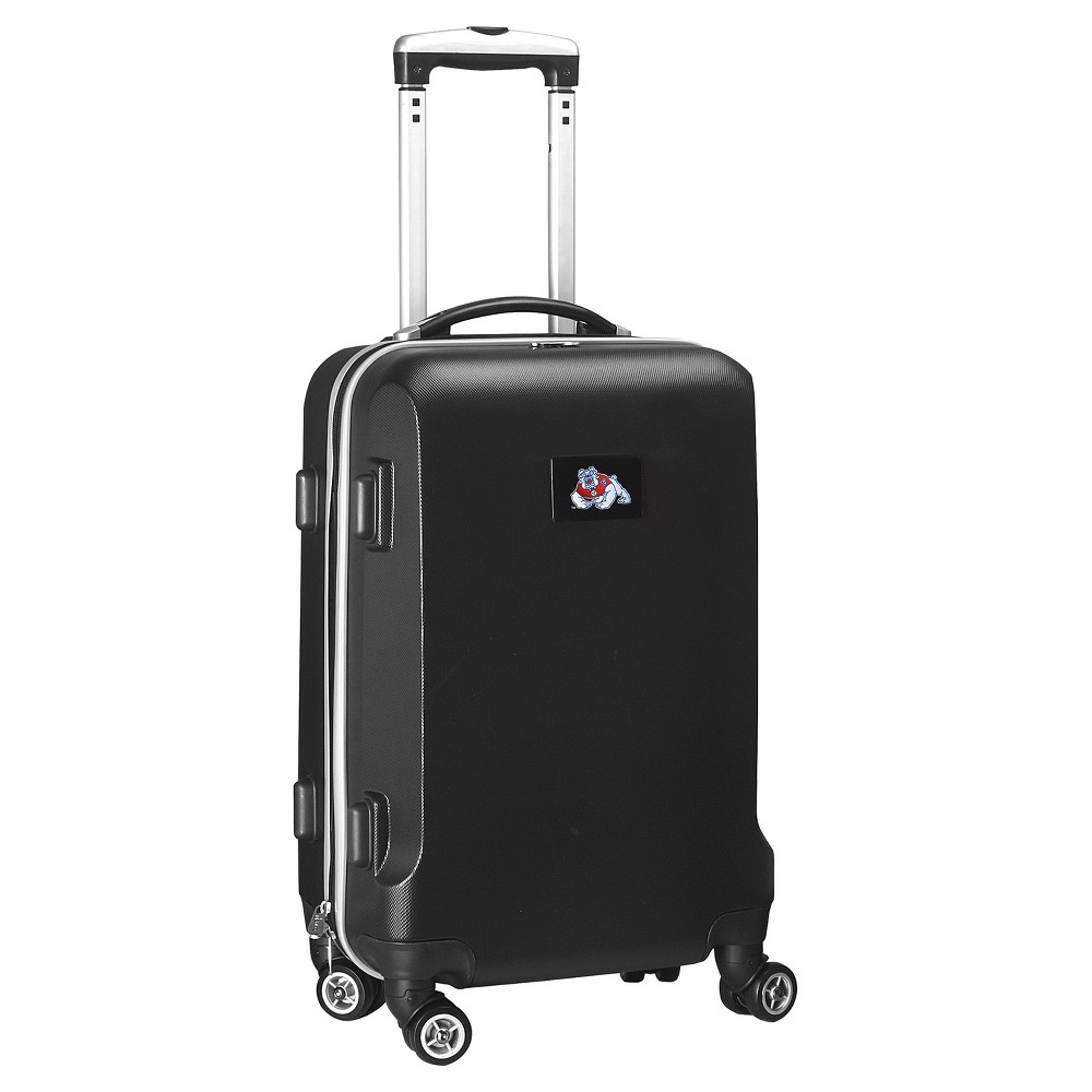 NCAA Fresno State Bulldogs Black Hardcase Spinner Carry On Suitcase