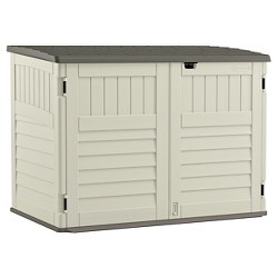 Stow Away Horizontal Shed - Soft Taupe - Suncast