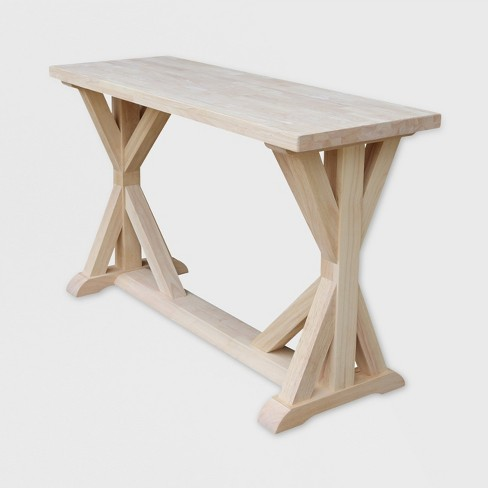 - Sierra Console Table Unfinished - International Concepts : Target