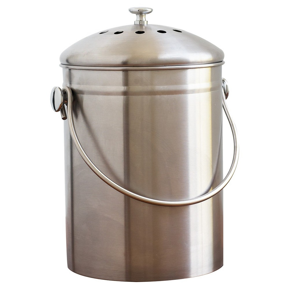 Image of Natural Home Stainless Steel Compost Bin