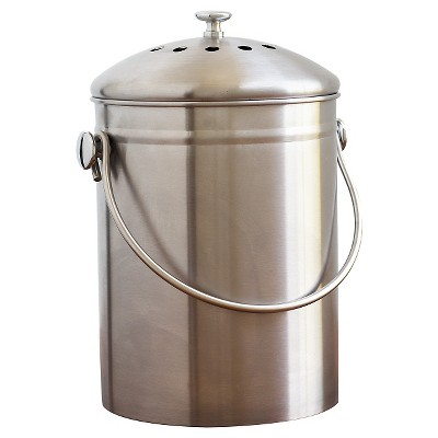 Bon Natural Home® Stainless Steel Compost Bin
